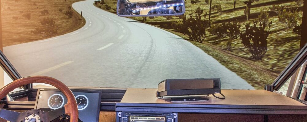 Driving simulation environment including the driving
