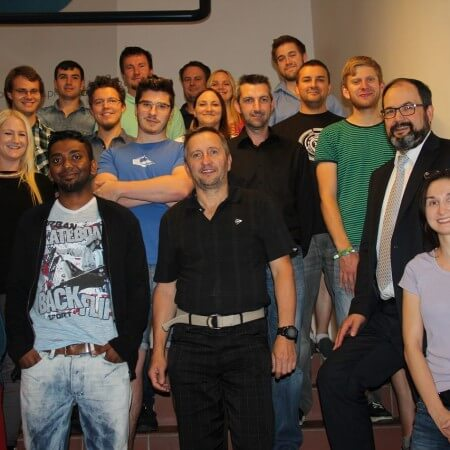 Participants and organizers of the Robotics Summer School