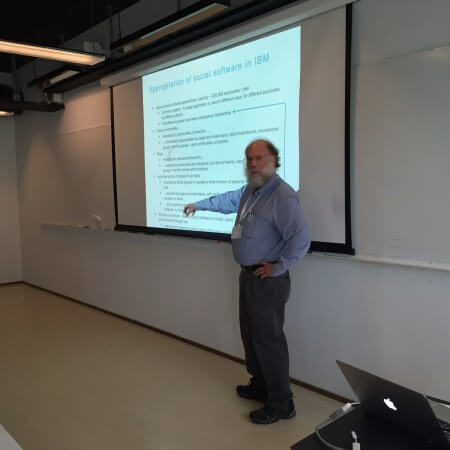 Michael Muller presenting at Workshop