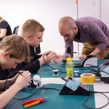 wissen:stadt workshop with school classes at Studio3 ©Center for HCI